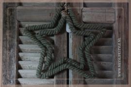 LED figuur touw | Ster groen M