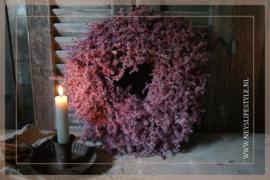 Wax krans Asparagus red 35 cm