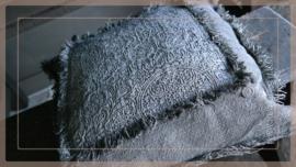 Kussen linnen/kalk sober 45 x 45 cm | grey