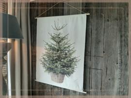 Wanddoek XMAS tree LED | L