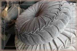 Velvet kussen grijs | 40 cm