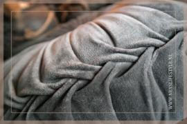 Velvet kussen grijs | 35-40 cm