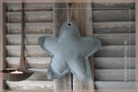 Ster hanger linnen   grijs M