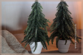 Kerstboom in pot glitter | M