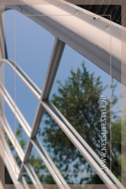 Raamspiegel buiten wit /lichtgrijs| S