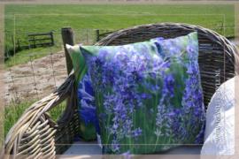 Buitenkussen bloem lavendel | 40 x 40 cm