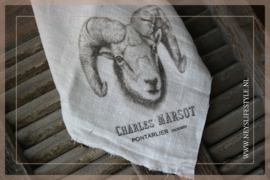 Linnen doek shabby wit | print Ram