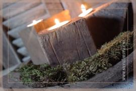 Houten waxinelichtje | blok
