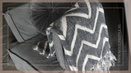 Plaid 130 x 170 cm | zigzag grijs