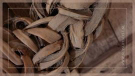 Krans coco slice   grey wash  40 cm