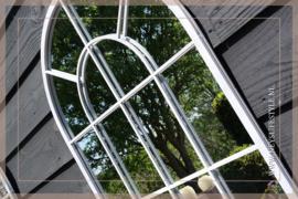 Raamspiegel buiten lichtgrijs | L