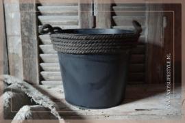 Bloempot met touw | M