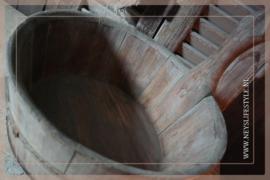 Oude houten sauna bak | 4