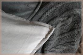 Velvet kussen 50 x 50 cm | kiezel