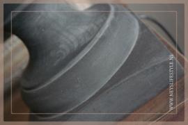 Baluster lamp op voet |  old black