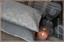 Kussen linnen light grey Jintey 45 x 45 cm