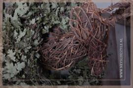 Rendierkop wandhanger | rotan
