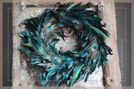 Peacock eye krans | 55 cm