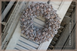 Krans Coco Fruit   Whitewash   30cm
