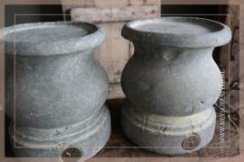Kandelaar Majestic vintage   grey