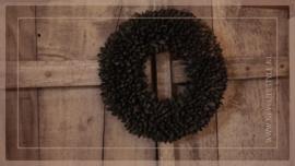 Krans Bakulli   zwart   30 cm