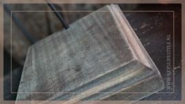 Pinakel hout hanger   greywash M