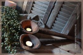 Oude houten lepel | 70-90 cm