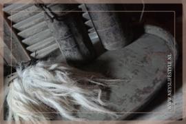 Dienblad metaal grey finsh | 50 cm