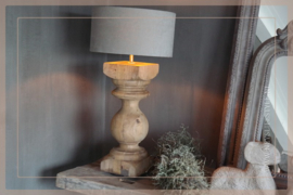 Baluster lamp | hout 47 cm