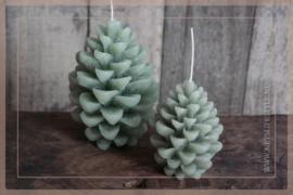 Kaars pine cone | groen S