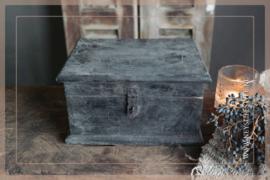 Houten opbergkist | grey
