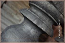 Kandelaar hout baluster | black  33 cm