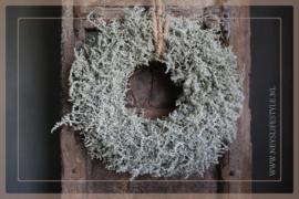 Wax krans Asparagus green 45 cm
