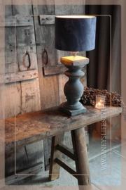 Baluster lamp op voet |  aardewerk L
