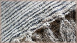 Plaid 130 x 170 cm | stripe blue