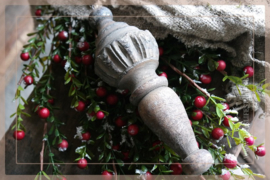 Klos hout Bima | naturel goud