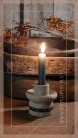 Kaarsen kandelaar houten klos