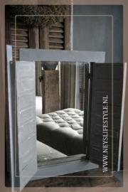 Spiegel louvre deur | grey