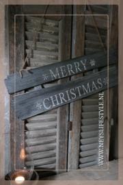 Houten bord |  Merry Christmas