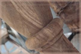 Baluster vloerlamp excl kap | hout 125 cm
