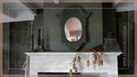 Spiegel Ossenoog hout   grey