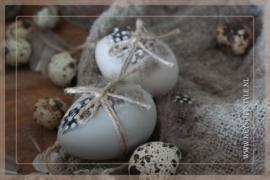 Hang eitjes met veer