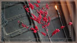 Boom bessen kunst rood   92 cm
