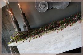 Buxus bessen guirlande  | 60 cm