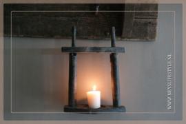 Hang lantaarn hout   black