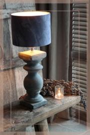 Lampenkap velvet cilinder | grijs