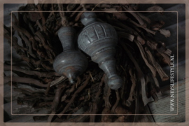Klos hout Grey |  Tori