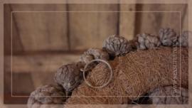 Krans Ata fruit| grey smoke | 30 cm