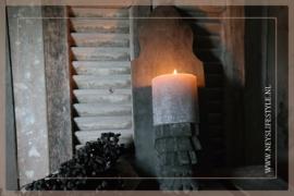 Wandkandelaar ornament   grey