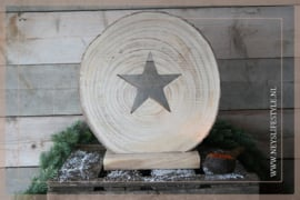 Ornament wood slice | Star